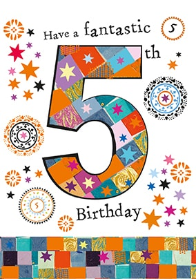 Fanastic 5th Birthday Card