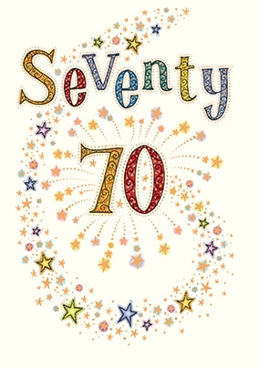 70th Birthday Card  - Neapolitan