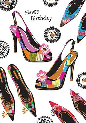 Happy Birthday Shoes Card