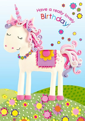 Have A Lovely Birthday Unicorn Card