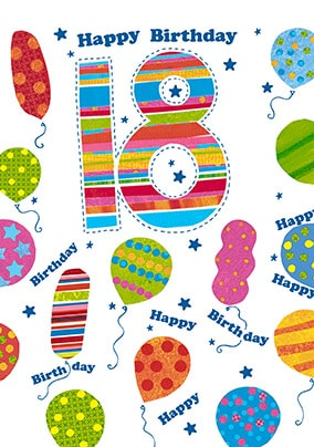 18 Happy Birthday Card - Portobello