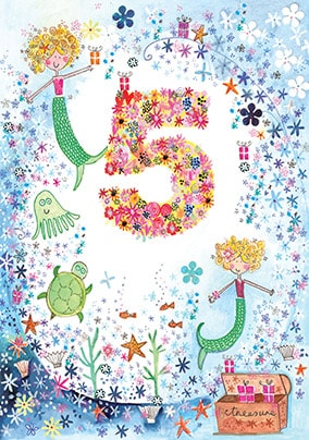 5 Fairy Mermaid Birthday Card - Daisy Patch