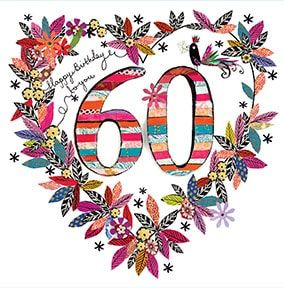 60th Birthday Card - Artisan