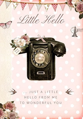 A Little Hello Greeting Card