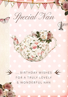 Special Nan Teapot Birthday Card YES Preview Image Is Not Found