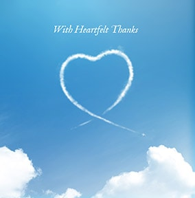 Heartfelt Thanks Greeting Card - The Sky's The Limit