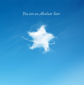 Absolute Star Greeting Card - The Sky's The Limit
