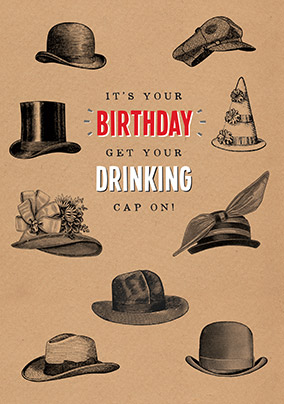 Drinking Cap Birthday Card