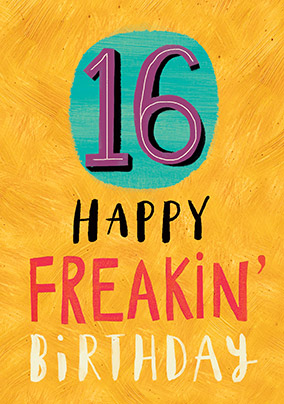 More Like This 16 Happy Freakin Birthday Card