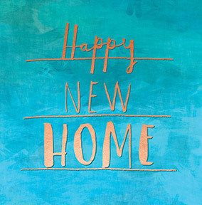 Happy New Home copper text Card