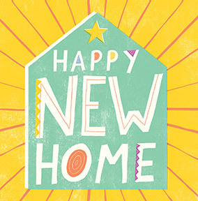 Bright New Home Card