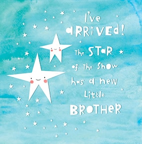 A New Brother Baby Card