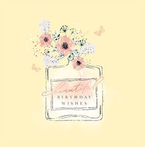Beautiful Birthday Wishes Perfume Card