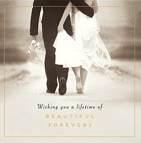 Beautiful Forevers Wedding Day Card
