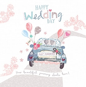 Happy Wedding Day Card Funky Pigeon