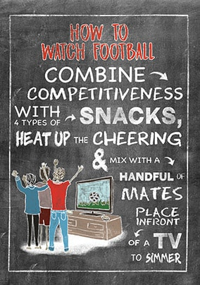 How To Watch Football Card