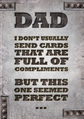 Full of Compliments Father's Day Card