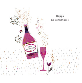 Bottle of Fizz Retirement Congratulations Card