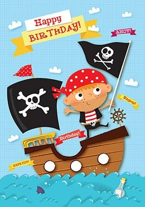 Happy Birthday Pirate Card