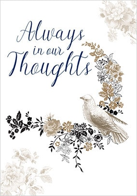 Always In Our Thoughts Sympathy Card