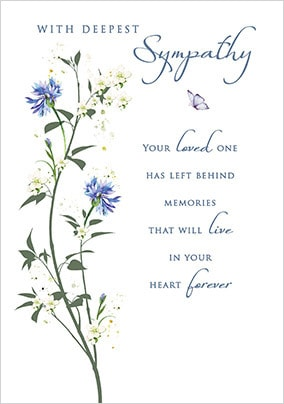 in Loving Memory Sympathy Card with