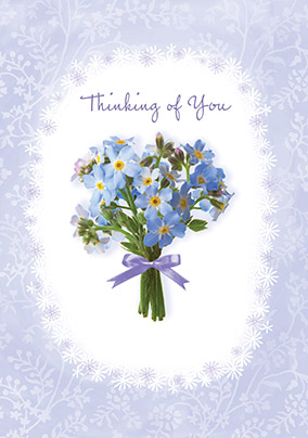 thinking of you flowers sympathy card funky pigeon