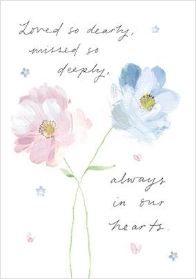 Always in Our Hearts Sympathy Card