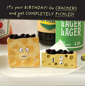 Get Pickled Cheesy Birthday Card