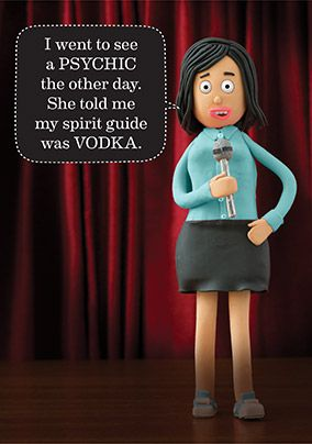 Comic Sandra Spirit Guide Birthday Card