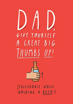 Thumbs Up Father's Day Card