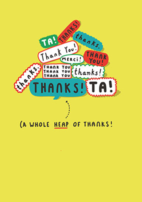 A Whole Heap Of Thanks Card