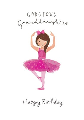 Gorgeous Granddaughter Birthday Card