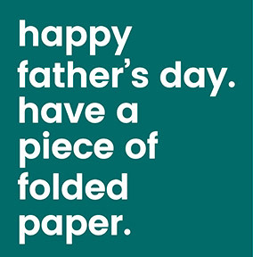 Folded Paper Father's Day Card