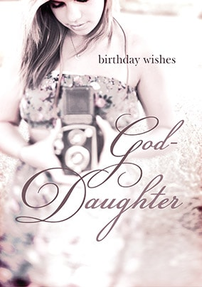 Goddaughter Birthday Card Wishes & Kisses