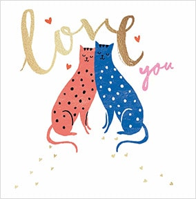 Love You Cats Card