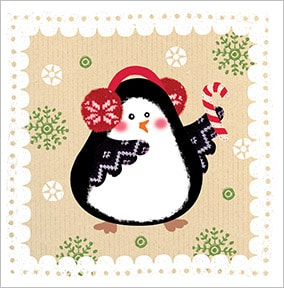 Festive Penguin Christmas Card