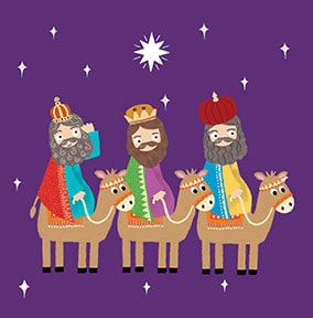 Kings and their Camels Christmas Card