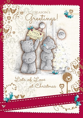 Lots Of Love At Christmas Me To You Card
