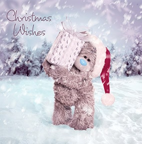 Christmas Wishes Bear Me To You Card