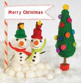 feltipips snowmen christmas card