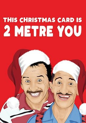 2 Metre You Christmas Card