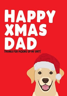 Happy Xmas Dad Card