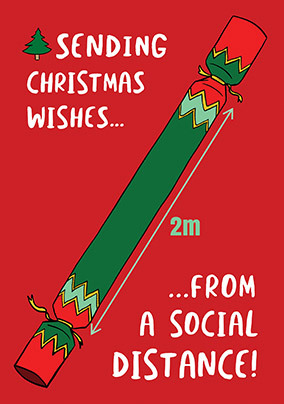 Christmas Wishes from a Social Distance Card