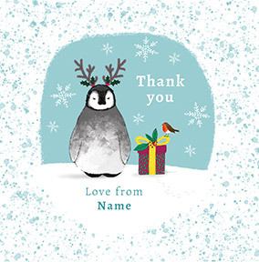 Christmas Thank You Personalised Card