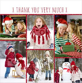 Christmas Thank You Multi Photo Card