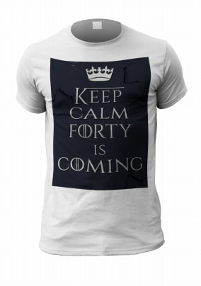 Forty Is Coming Personalised Mens T Shirt