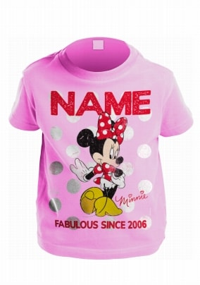 Personalised Birthday Name and Age T-Shirt Disney Character Mens Womes Kids