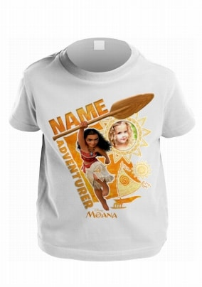 White Personalised Childrens Girls Disney Moana T-Shirt