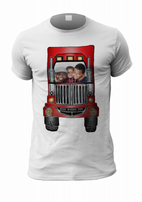 Personalised T-shirt - Photo Upload Red Lorry