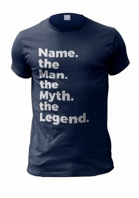7451c0bfc The Man The Myth Personalised Mens T-Shirt. NO. preview image is not found